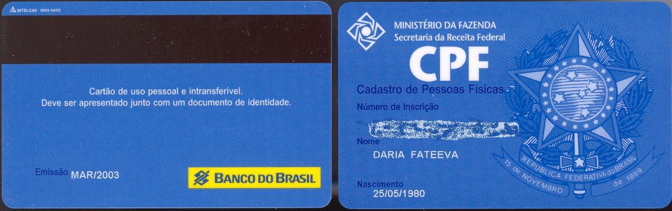causas sociais Márcio Morais O FIM DO CPF EM FORMATO PLÁSTICO